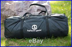Tahoe Gear Jasper 7 Person Family Cabin Dome Outdoor Camping Tent, Green/White