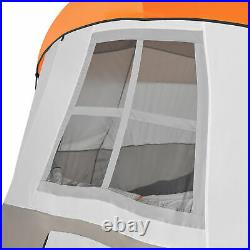 Tahoe Gear Olympia 10 Person 3 Season Camping Tent, Orange and Green (Open Box)