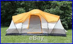 Tahoe Gear Olympia 10-Person 3-Season Tent, Orange/Ivory TGT-OLYMPIA-10-B