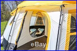 Tahoe Gear Ozark 16-Person 3-Season Cabin Tent, Camping Orange Free Shipping