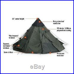 Teepee Tent Camping Equipment Outdoor Shelter Backpacking Hunting 6 Person Green