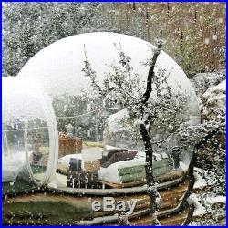 Tenda a Bolle Gonfiabile Lusso Cupola Tunnel Singolo Trasparente Ventilatore