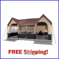 Tent 10 Person Luxury Tall Camping Hiking Outdoor Family Cabin Tent