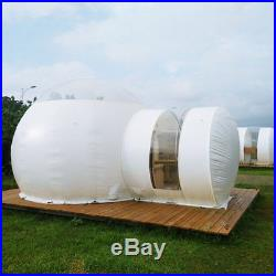 Translucent Inflatable Eco Home Tent House Dome Camping Cabin Lodge Air Bubble