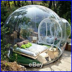 Transparent Single Inflatable Bubble Tent Camping Moisture-Proof Blower Kit