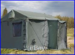 USGI MILITARY ARMY TENT- MODULAR COMMAND POST SYSTEM #483 With FLOOR-11 x 11 ft