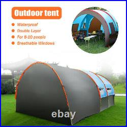 US 8-10 People Camping Tent Waterproof Hiking Double Layer Outdoor Party