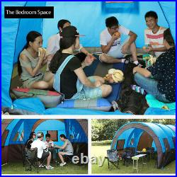 US 8-10 Person Double Layer Camping Tent Waterproof Outdoor Hiking Family Travel