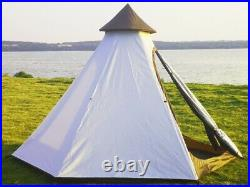 US Ship Portable Waterproof Double Layers Indian Teepee Tent Family Camping Tent