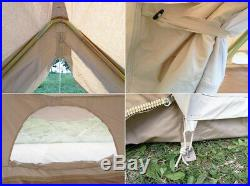 US Shipped Large Twin 64M Emperor Bell Tent Cotton Canvas Luxury Yurt Tent
