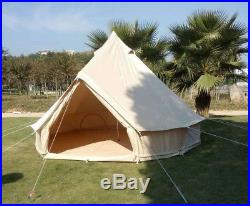 US Shipped Outdoor Waterproof Canvas 3M Bell Yurt Tent with Zipped GroundSheet
