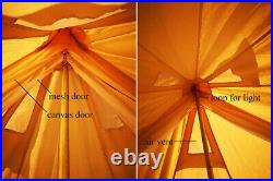 US Shipped Waterproof Poly-Cotton Canvas Camping Indian Teepee Tent for 2 Person