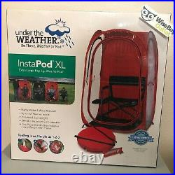 Under the Weather InstaPod XL Pop-Up Shelter Shade Sports Camping Pod in RED