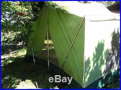 Vintage Coleman Oasis 13' x 9' canvas cabin tent Model 8438A839 Complete