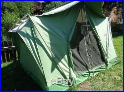 Vintage Coleman Oasis Canvas Wall Tent 10' x 8' Camping