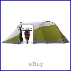 Vuz Moto 12 Foot Waterproof Motorcycle Tent with Attached 3-Person