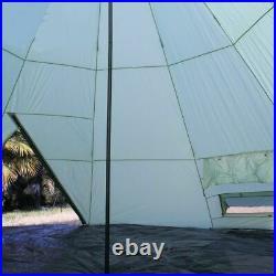 Waterproof 10+Person Camping Beach Canopy Awning Gazebo Glamping Yurt Tent NEW