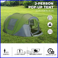 Waterproof 5-6 Person Camping Hiking Easy Folding Setup Instant Pop Up Dome Tent
