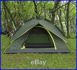 Waterproof Double layer Auto Instant Camping Family Pop Up Umbrella Tent Green