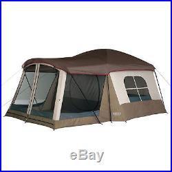 Wenzel Klondike 16 x 11 Large 8 Person Screen Room Outdoor Camping Tent, Brown