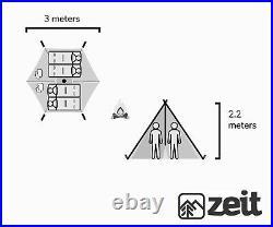 Zeit'simpson' Teepee, Glamping, Outdoor, Waterproof, Sleeps up to 4